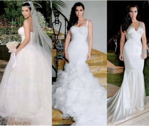 kim k wedding dresses