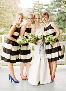 striped maids dresses