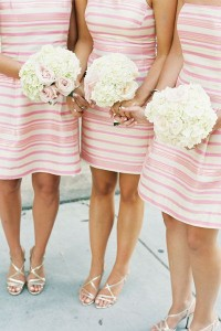 striped maids dresses five