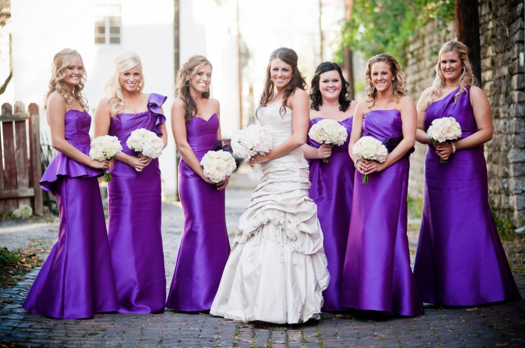 Unusual Different Shades Of Purple Bridesmaid Dresses Contemporary ...