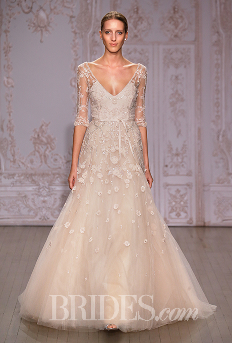 Nyc bridal market 2014 recap part 1 delica bridal for Monique lhuillier pink wedding dress